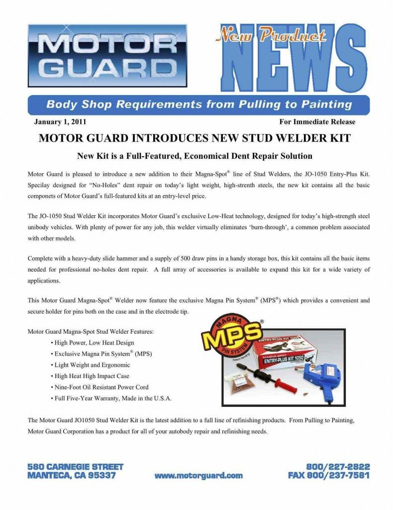 Motor Guard Stud Gun 790x1024 Auto Body and Paint Giveaways