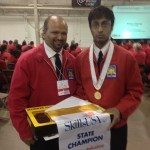 Left: Instructor Barry Roopnarine                Right: Gold Winner Shazim Nazim