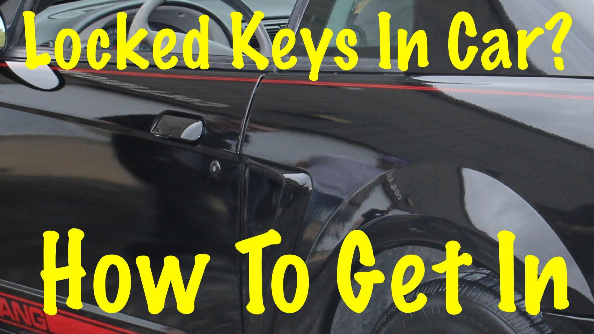 Two ways to unlock your car door without the key for How to unlock mercedes benz door without key